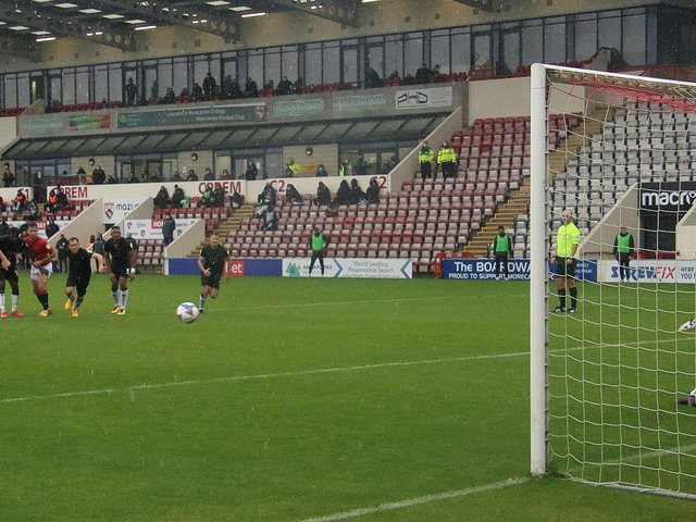 Adam Phillips' penalty gave Morecambe victory against Port Vale earlier in the season