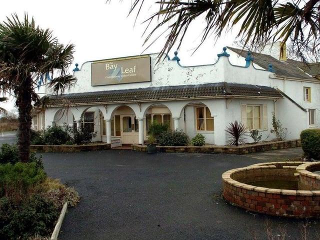 The derelict former Bay Leaf restaurant
