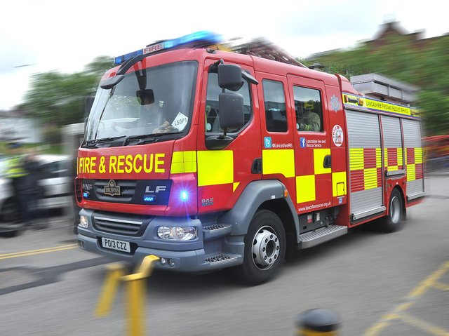 Two fire crews were sent to Spring Gardens in Leyland