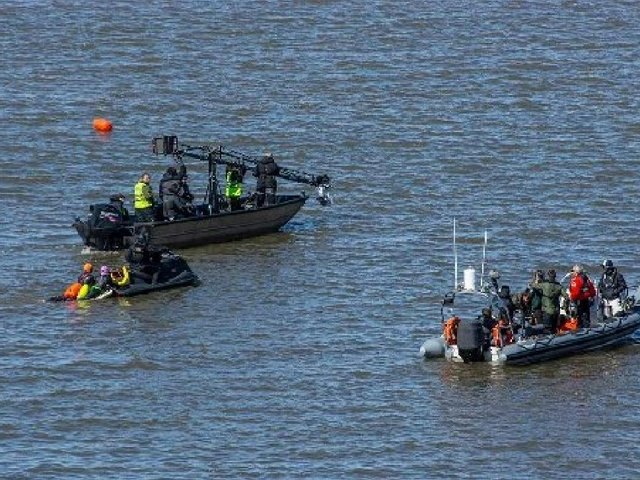 Filming under way out in the bay for The Bay. Photo by Mags Carr
