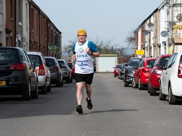 Andrew Read has shown amazing determination with this epic running challenge