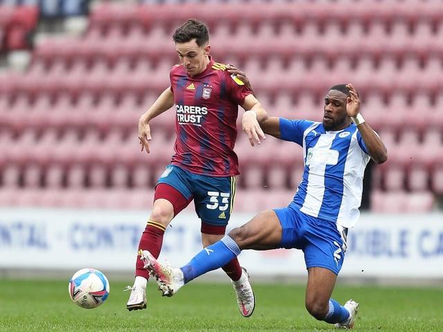 PNE midfielder Josh Harrop in action for Ipswich Town