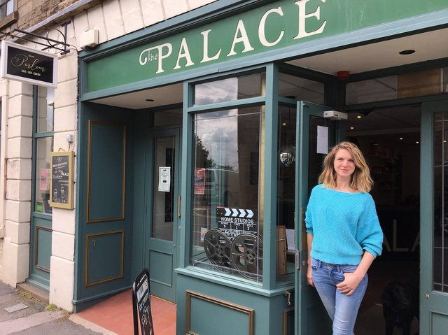 Lara Hewitt pictured outside the Palace Cinema