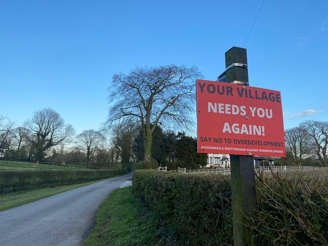 """Goosnargh residents are being called to action in the face of """"an onslaught"""" of proposed housing developments"""