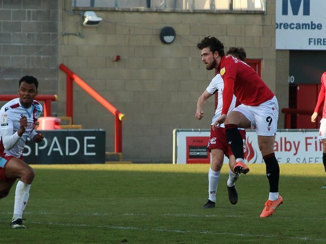 Cole Stockton opens the scoring for Morecambe in midweek