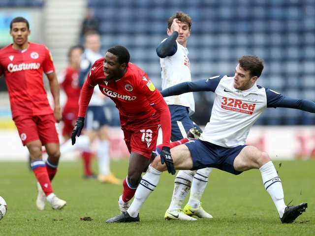 Ben Whiteman, right, is keen to develop his understanding with Ryan Ledson, centre, in the PNE midfield