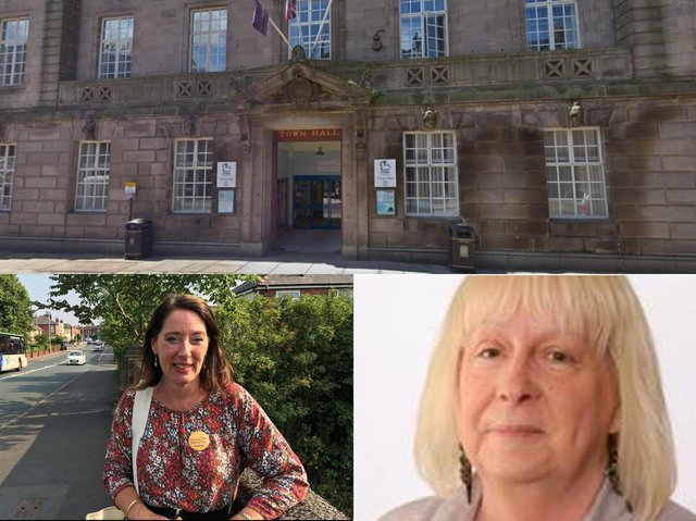 Preston city councillors Debbie Shannon (left) and Sue Whittam have both had their daughters suffer harassment in the street (images: Google [top], Preston Lib Dems [bottom left] and Preston City Council [bottom right])
