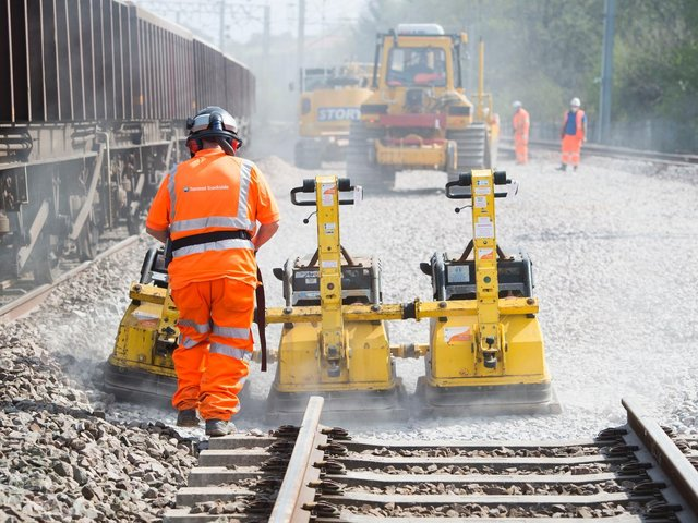 Track renewals on the West Coast Main Line