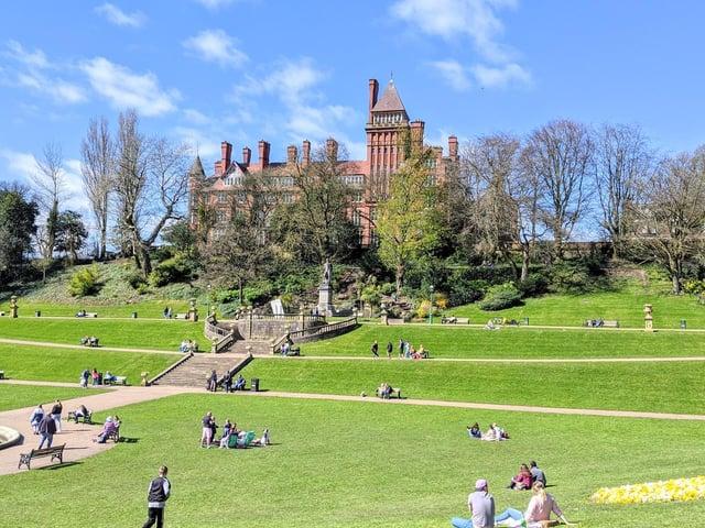 People enjoy the sunshine at Miller Park, Preston. Photo: Tony Worrall Photography