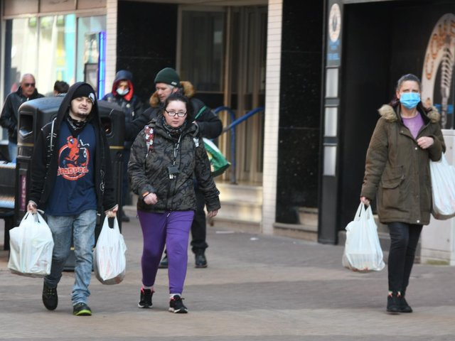 Shoppers in Blackpool town centre