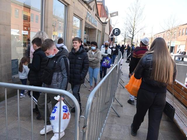 Bargain hunters queue outside Primark