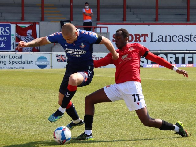 Carlos Mendes Gomes scored twice against Morecambe on Saturday