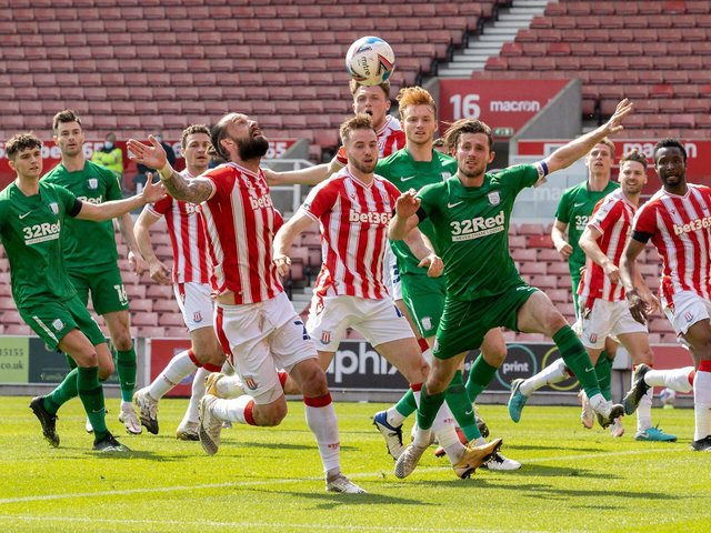 Alan Browne and Sepp van den Berg in the thick of the action