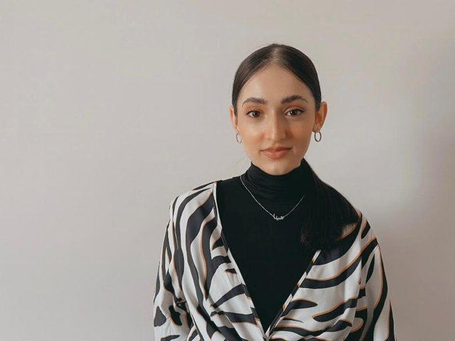 UCLan student, Hinna Kazi, 20, from Accrington is currently in the third year of her degree and helped to deliver the national ad campaign.