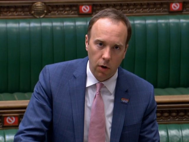 "Health Secretary Matt Hancock speaking in the House of Commons, London, as he told MPs that India will be added to the coronavirus travel ""red list"" from 4am on Friday."
