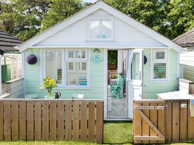 The 'world's best beach hut' is the only one in England to have five stars