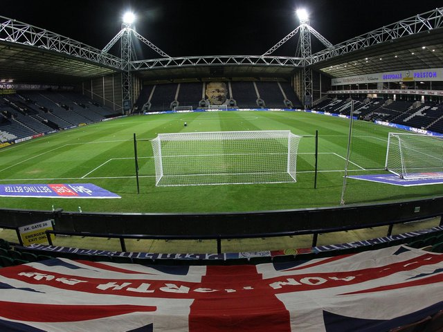 PNE's Deepdale home under the lights.