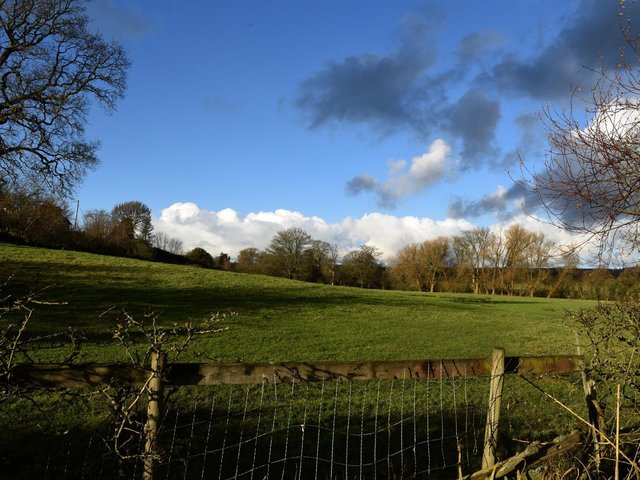The site of the proposed snail farm at Ribchester in the Ribble Valley. The planning  application for change of use has been refused.