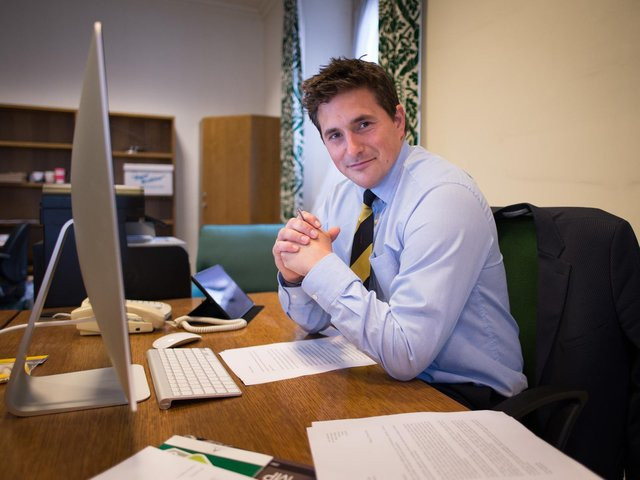 Plymouth MP Johnny Mercer at his office at the Houses of Parliament in London