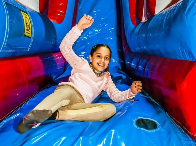 Visitors can play on slides, in ball pools and on inflatable football pitches when the new attraction opens