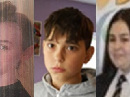 """Friends Leona Derbyshire, 14, Matej Bulander, 14, and Allyx Queen, 16, disappeared from Withnell Fold on Tuesday evening (April 20), but have since been found """"safe and well"""". Pic: Lancashire Police"""