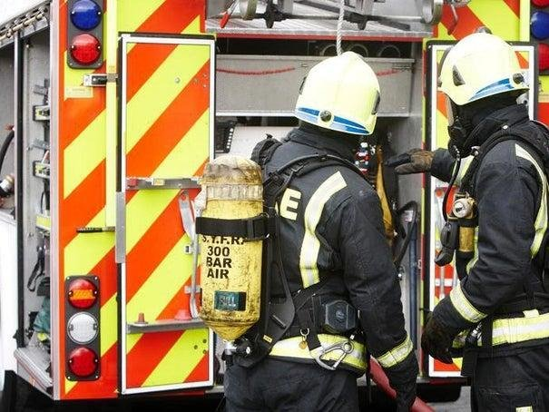 Two fire engines from Clitheroe were called to the scene in Charles Road.