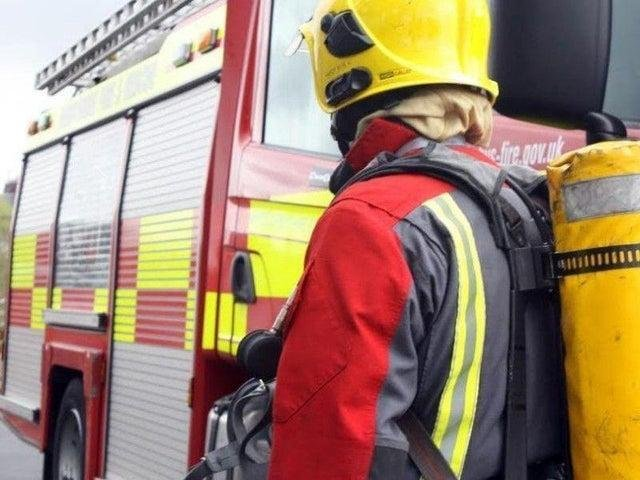 Two fire engines from Lancaster attended the scene in Hornby Road.