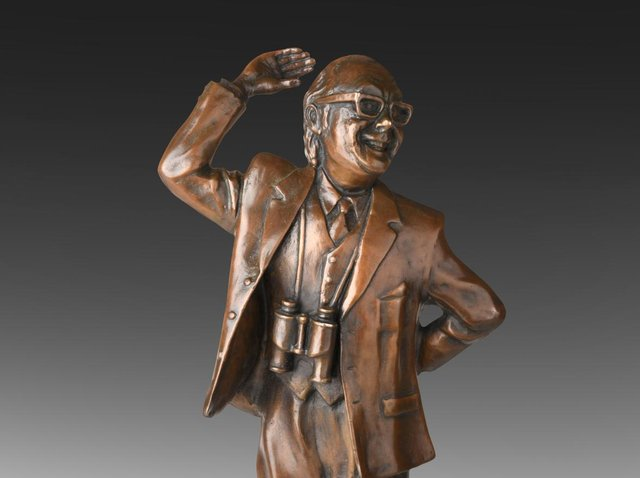 The Eric Morecambe maquette - only one of 10 made - has sold for £6,000 at auction. Photo by Harry Middleton.