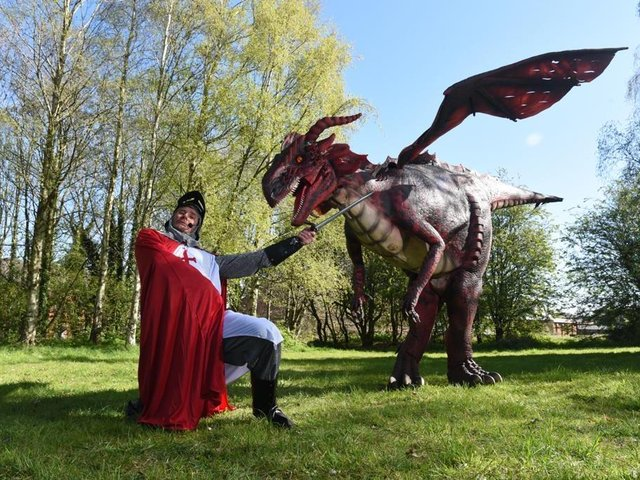 St George and the dragon at the Eldon Primary School, Plungington