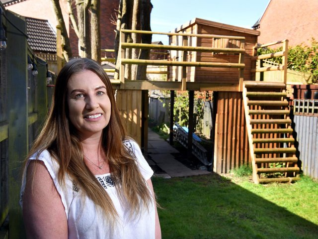 Kelly Dalytse built a treehouse in her garden for her kids in the first lockdown but the council now says it has to come down after more than a year because it is breaking privacy regulations