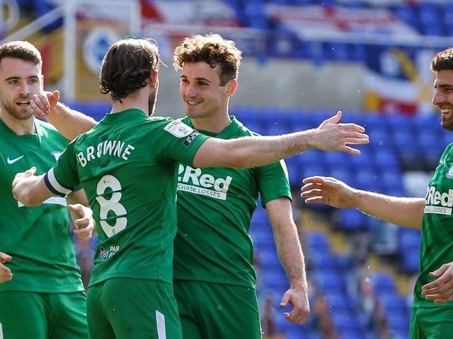 PNE skipper Alan Browne celebrates scoring the winner against Coventry City