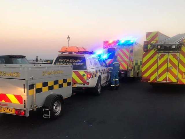 The fire service and HM Coastguard Lytham were in attendance