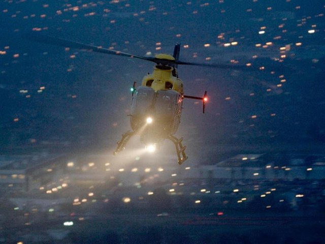 The police helicopter was deployed at around 9.30pm last night (Sunday, April 25) and repeatedly circled the skies over Preston Docks, Ashton and Penwortham until the early hours of the morning