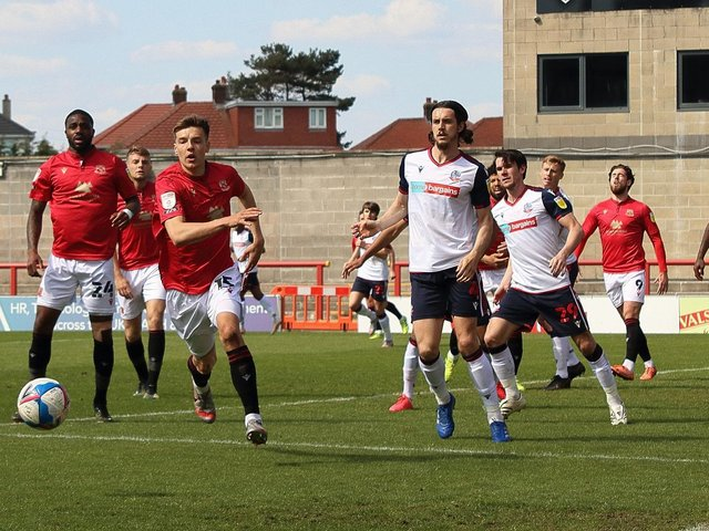 Morecambe lost to Bolton Wanderers on Saturday