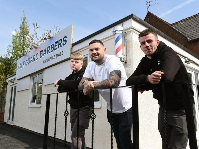 The new barbershop has opened up in the White Bull car park