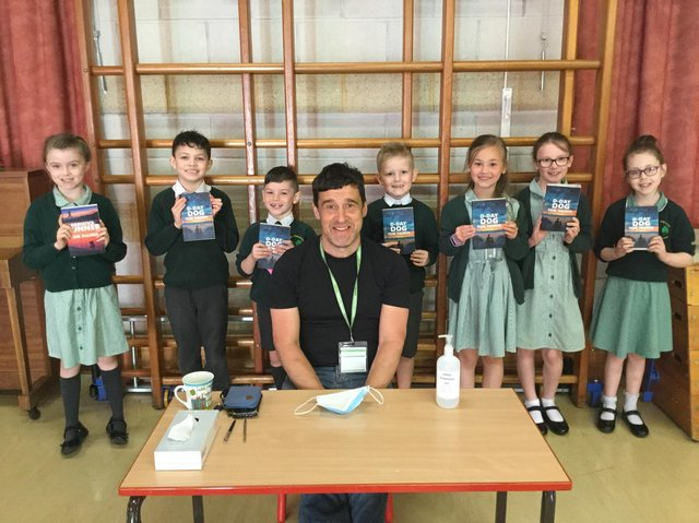 Author Tom Palmer finally visited St. Patricks Primary School and inspired some 'future authors'.