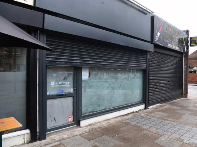 The empty shop unit is earmarked to become a cocktail bar.