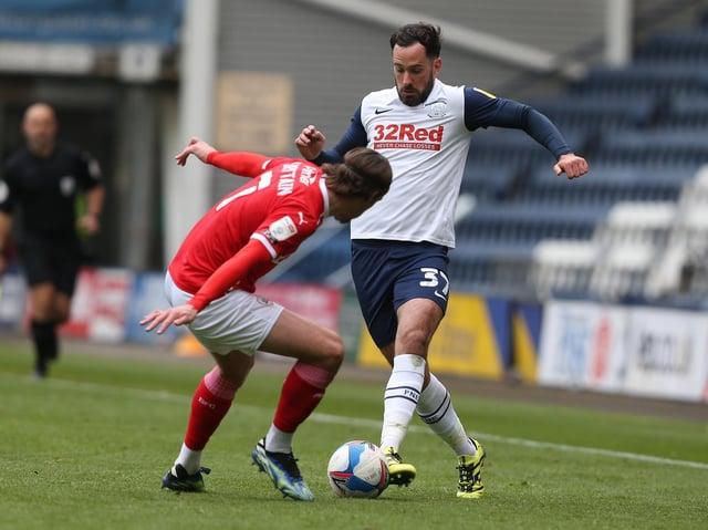 Greg Cunningham on the ball against Barnsley