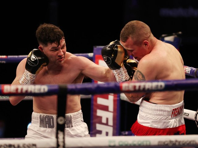 Scott Fitzgerald on his way to victory over Gregory Trenel (photo: Matchroom Boxing)