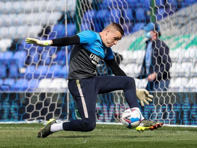 Preston North End's loan goalkeeper Daniel Iversen