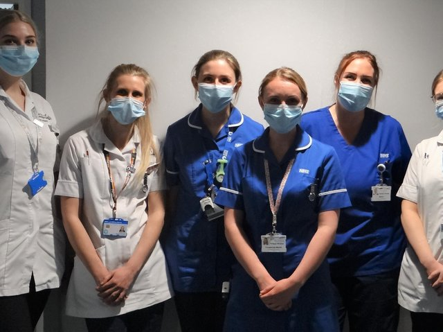 Midwives at the Royal Lancaster Infirmary.