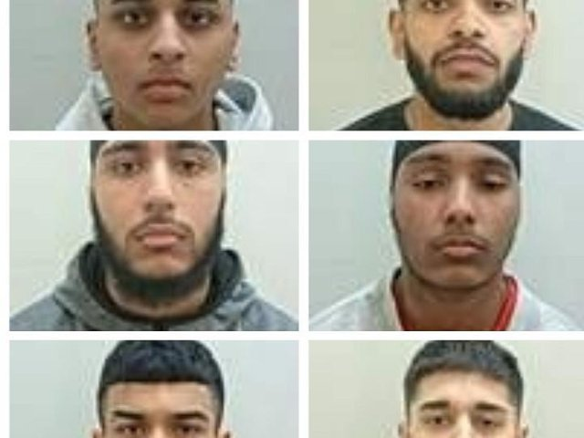 (left to right) Adam Khan, 20, of Albert Terrace, Preston; Murad Mohammed, 19, of Ringwood Close, Preston; Gurmail Singh, 20, of Bryning Fern Lane, Kirkham and Dilbagh Singh, 19, of Brackenbury Road, Preston were jailed at Preston Crown Court yesterday (Tuesday, May 4). Pic: Lancashire Police