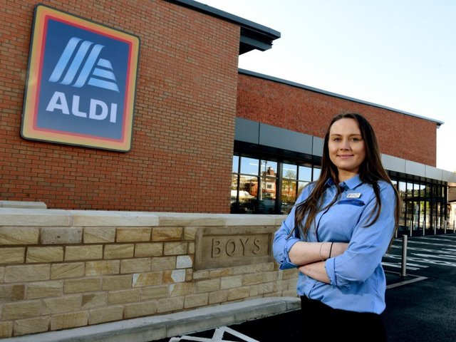 """Charlotte Garner is the store manager at the new Aldi in Leyland. She said: """"It's set to be a great day and it'll be lovely to welcome local customers into the new store and provide them with access to affordable, high quality food."""""""