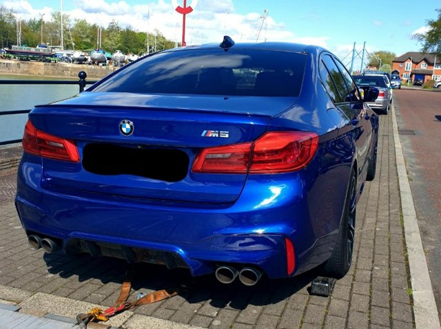 Police say the man had been behind the wheel of a BMW when it was chased by officers through the city centre on Wednesday (May 5). The car was later found abandoned at Preston docks. Pic: Lancashire Police