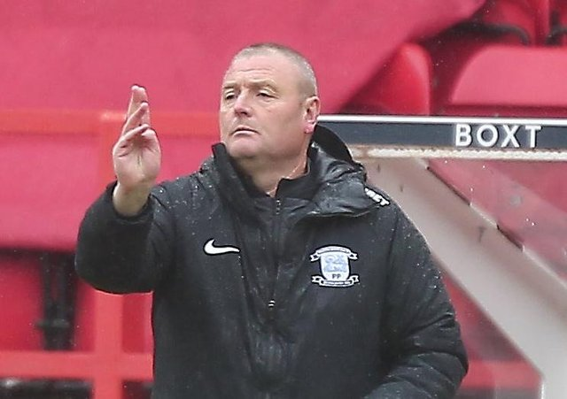 Frankie McAvoy directs operations from the touchline in Preston's win over Nottingham Forest