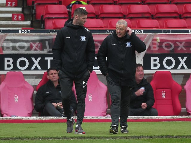 Frankie McAvoy (right) has been appointed Preston North End's head coach with Paul Gallagher joining his staff