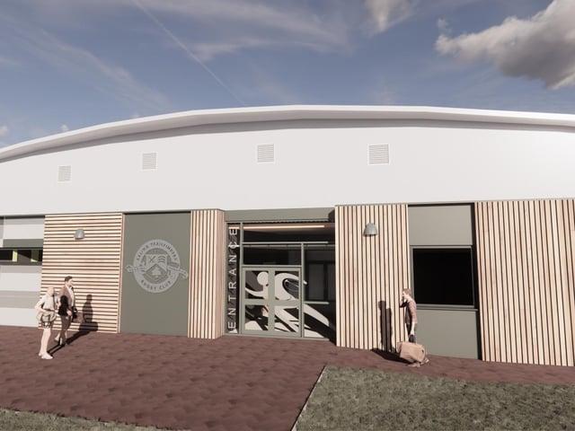 Collinson has stared work a a multi-million pound sports building