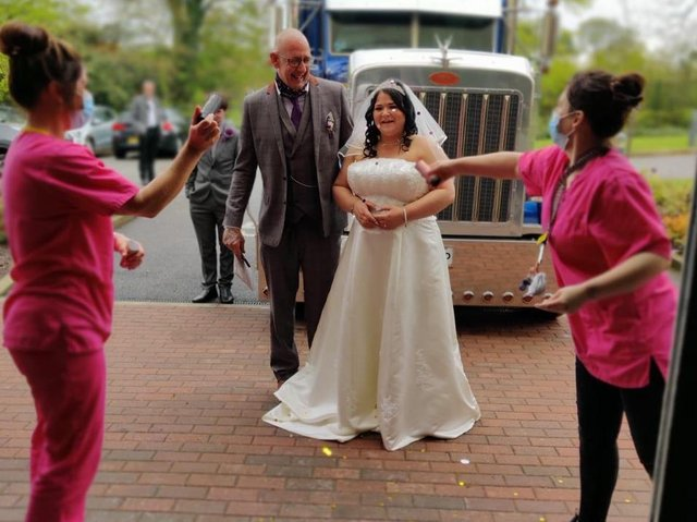 Residents and staff were able to celebrate with Sarah on her special day