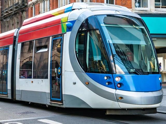 A West Midlands tram