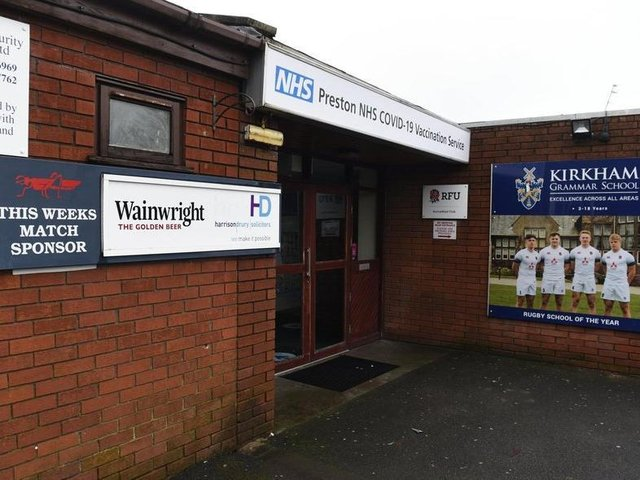 The jabs were being offered on a first come, first served basis at Lancashire Vaccination Centre, based at Preston Grasshoppers rugby club in Lightfoot Green Lane, Fulwood